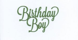 Birthday boy word silhouette