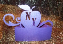 Apple with flourish NY place cards set of six