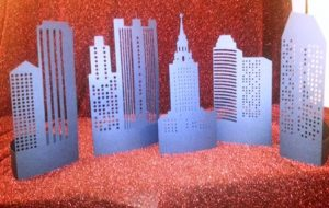 DIY create a city tablescapes set of five