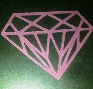 Diamond cupcake toppers set of twelve