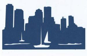 Extra large Boston skyline silhouette