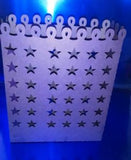 DIY large star luminary bag set of four
