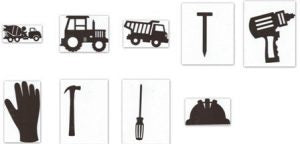 Construction silhouettes set of 12