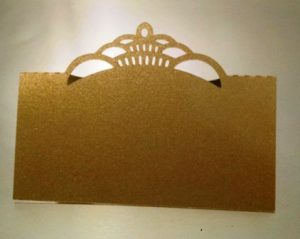 Crown tent style place card set of six