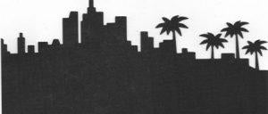 Extra large Hollywood skyline silhouette