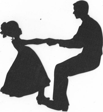 Father and daughter dancing silhouette
