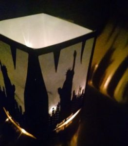 DIY New York standing luminary