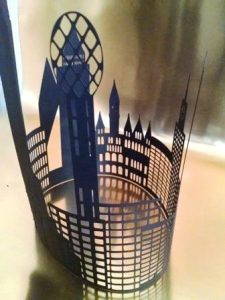 DIY Dallas skyline extra large centerpiece / silhouette