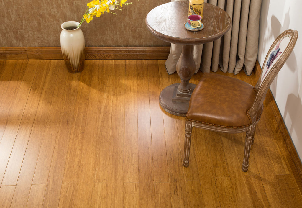 EcoFusion - NARROW PLANK SOLID FLOORING - LIGHT CARBONIZED COLOR