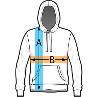 Pullover Hoodie Sizing Chart