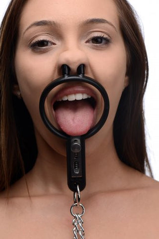 Degraded Mouth Spreader with Nipple Clamps