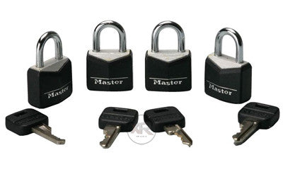 4 Pack Steel Masterlocks