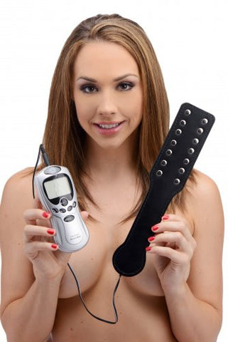 Estim Spanking Paddle with Powerbox Kit