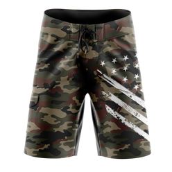 Board Shorts - Desert Camo White Crest | Board Shorts