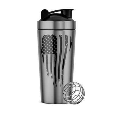 Bottles - Stainless Steel Flag | Shaker Bottle