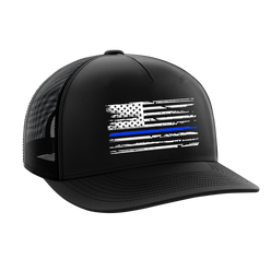 Headwear - Blue Line Flag | Snapback Hat