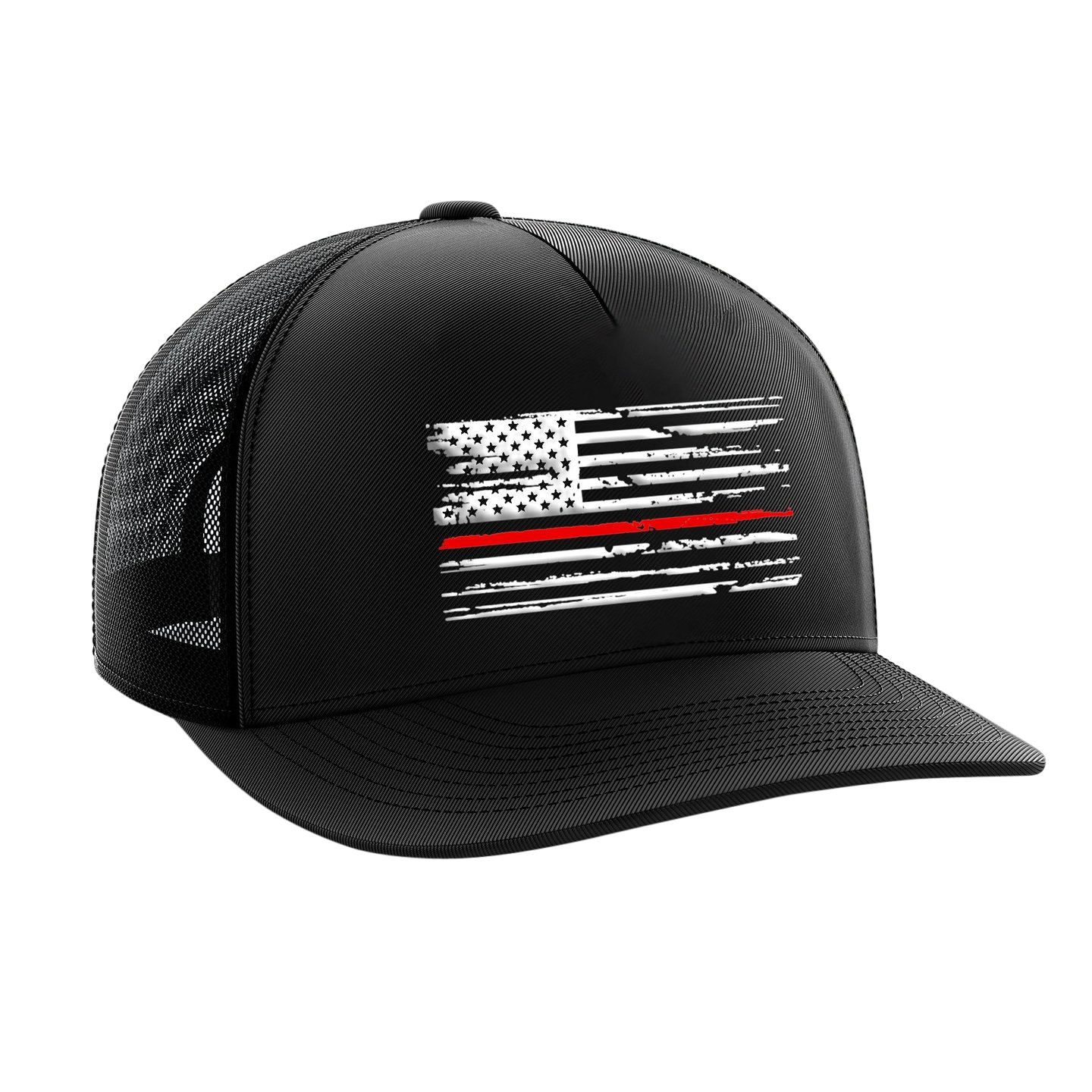 Headwear - Red Line Flag | Snapback Hat