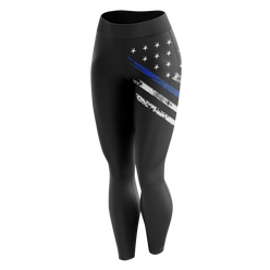 Leggings - Blue Line Crest Flag | Leggings