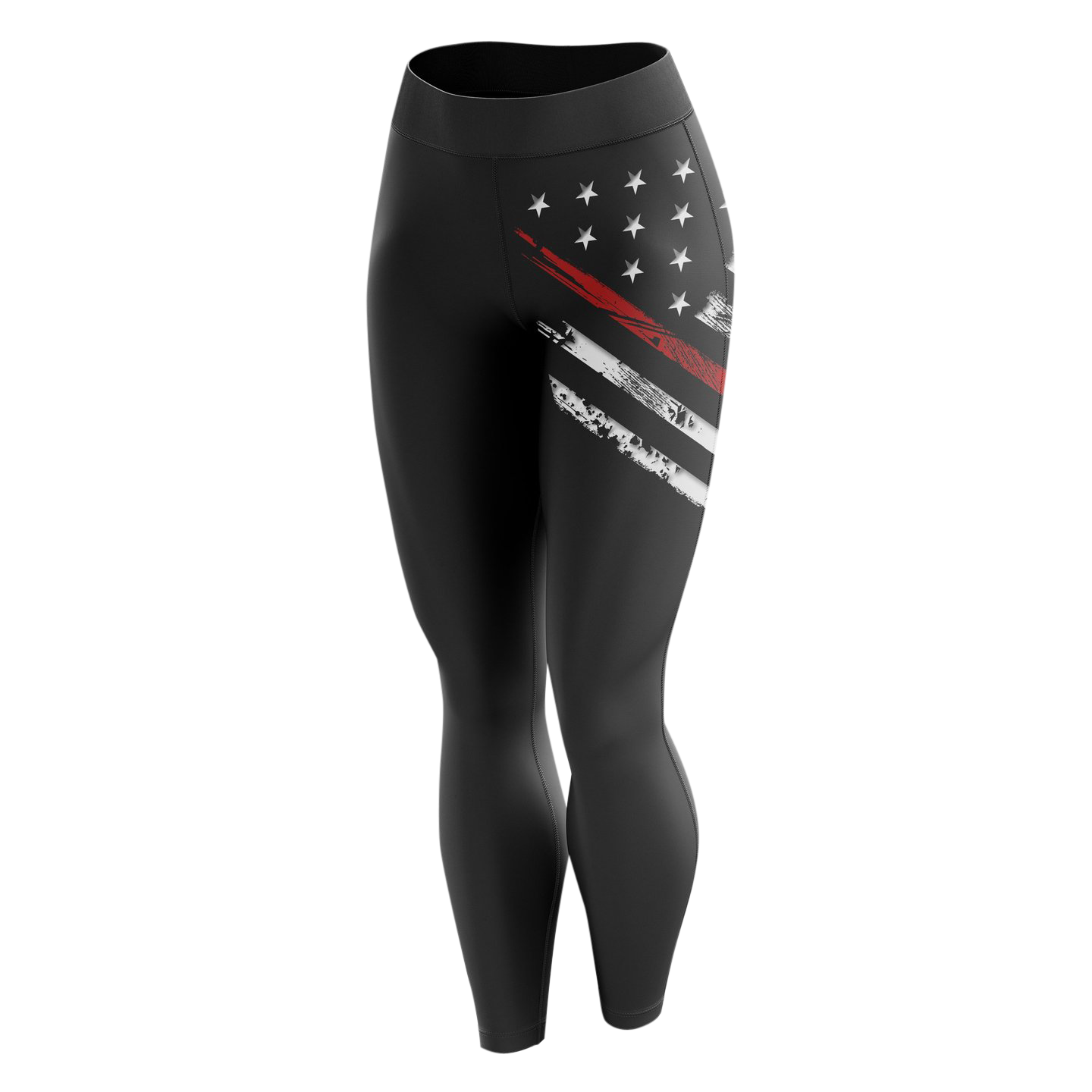 Leggings - Red Line Crest Flag | Leggings