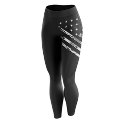 Leggings - White Crest Flag | Leggings