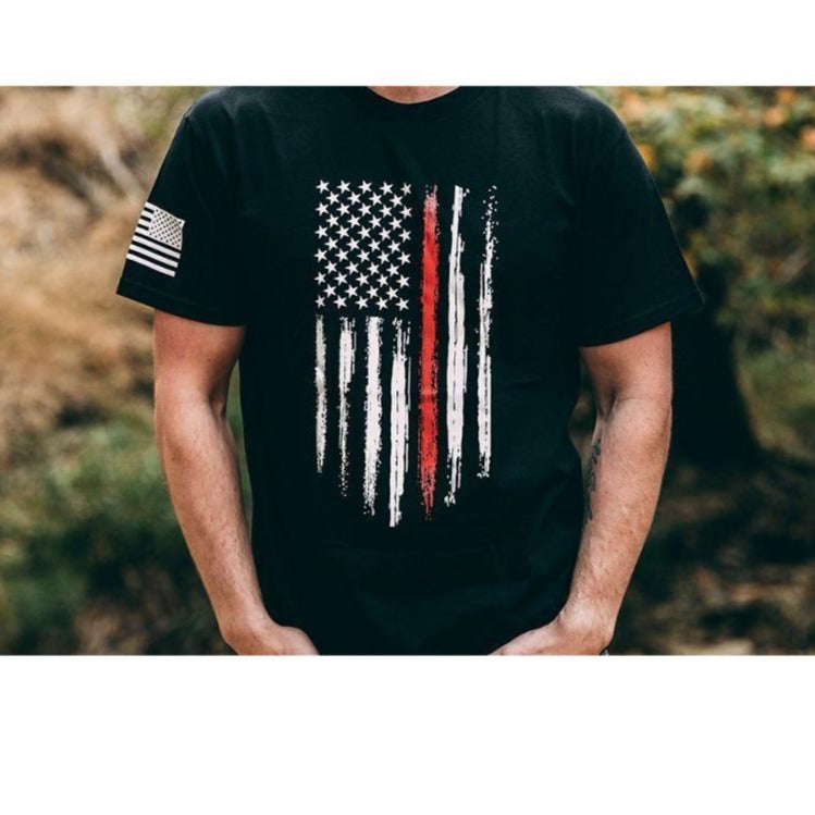 Red Line Flag | Mens Tee