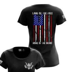 Women's Shirt - Land Of The Free - USA | Womens Tee