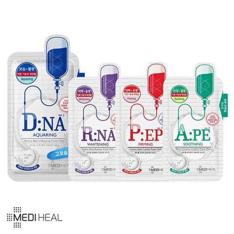 MEDIHEAL DNA/RNA/PEP/APE PROATIN MASK SHEET 10PCS (1Pack)