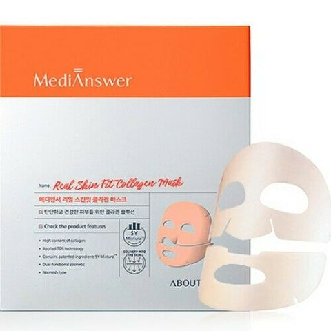 About Me MediAnswer [ Medi Answer ] Real Skin Fit Collagen Mask 4 sheets