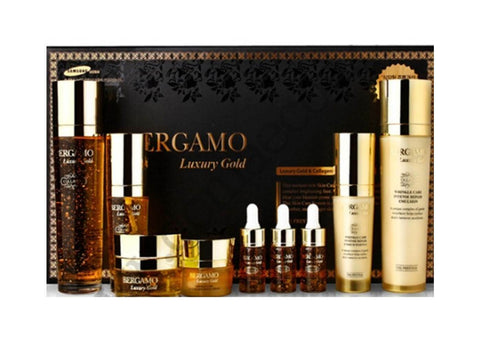 K-beauty Bergamo Luxury Gold 9pc Gift Set - Anti aging, Moisturizing
