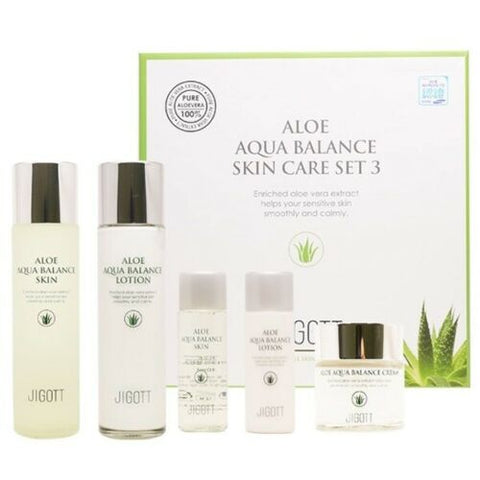 K-beauty JIGOTT Aloe Aqua Balance Skin Care Set 3