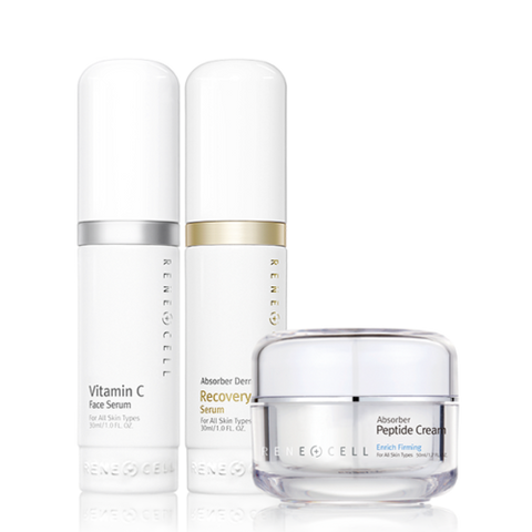 Renecell Vitamin C Set - the latest version (Vitamin C+Recovery+Peptide cream)