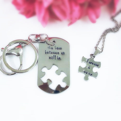 Forever & ever set keychain/necklace