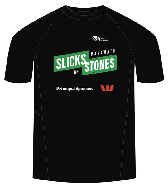 2020 Slicks and Stones tech t-shirts - Green Monkey Velo
