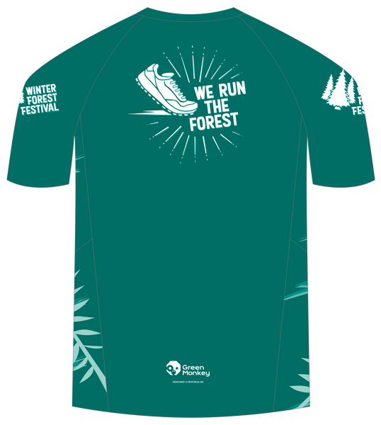 Winter Festival Official Running T-shirts - Green Monkey Velo