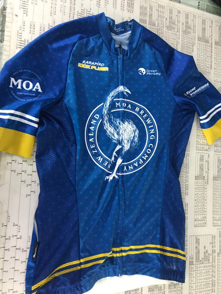 MOA KARAPIRO 100km Flyer event jersey - Green Monkey Velo