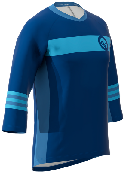 Green Monkey Blue Mens 3/4 Sleeve Trail Jersey