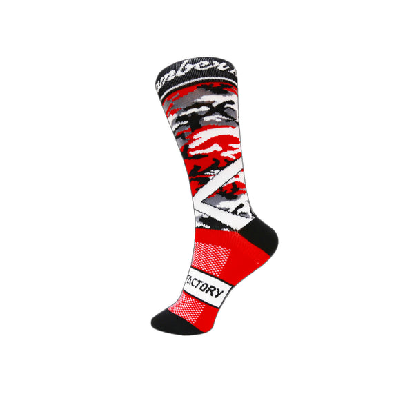 Red ChramberX Socks - Green Monkey Velo