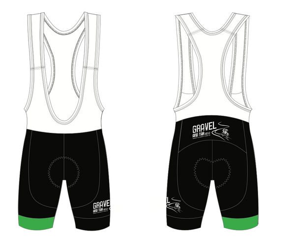 GRAVEL & TAR BIB SHORTS - Green Monkey Velo