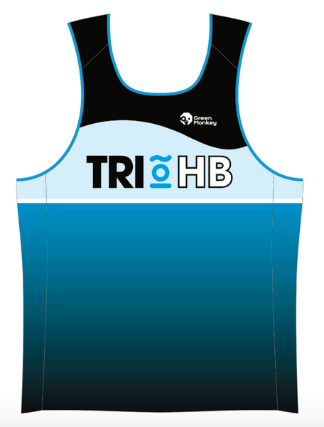 TRIHB RUNNING SINGLET MENS - Green Monkey Velo