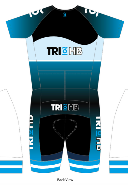 TRI HB TRI-SUIT WITH SLEEVES - Green Monkey Velo
