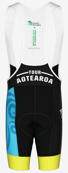 CROSSINGS - Tour Aotearoa 2020 Mens Bib Shorts - Green Monkey Velo