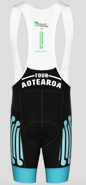 Future Koru - Tour Aotearoa 2020 Mens Bib Shorts - Green Monkey Velo