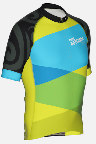 CROSSINGS - Tour Aotearoa 2020 Mens Jersey - Green Monkey Velo