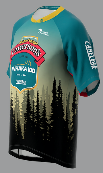 Official Whaka100 Trail Jersey - Green Monkey Velo