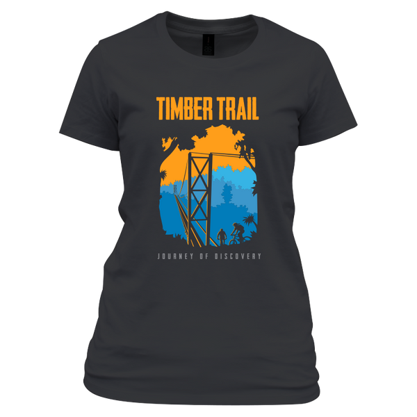Timber Trail Souvenir T-shirt - Green Monkey Velo