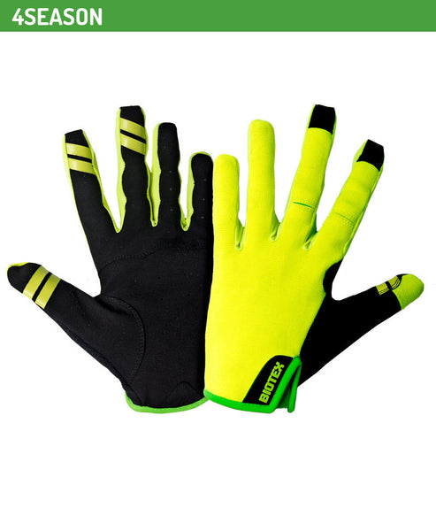 4 Season Total Touch Full Finger Gloves - Green Monkey Velo
