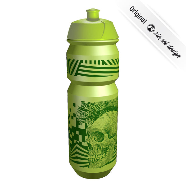 Skull Green Bottle - Green Monkey Velo