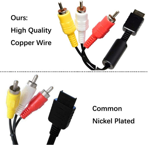 Copper Wire AV Cable For PS3, PS2 and PS1