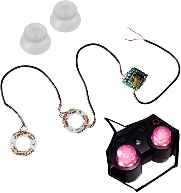 Mcbazel Clear Analog Thumb Stick Joystick Cap DIY 5 Color LED Thumbstick Set