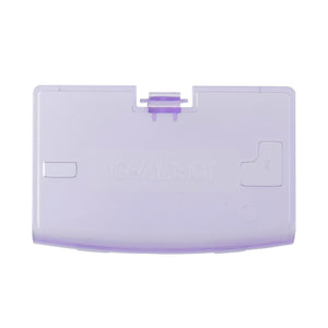 Gameboy Advance Battery Cover Door Clear Violet
